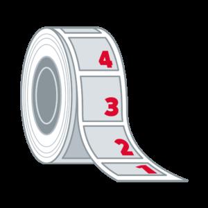 Personalisierte / Nummerierte Etiketten